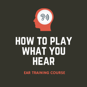 How to Play What You Hear is my ear training course where you'll learn to hear intervals, chords, chord progressions, and melodic dictation.