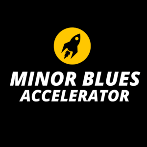 Minor Blues Accelerator is my powerful minor blues practicing course that digs deep into a process for minor blues mastery.