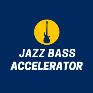 Jazz Bass Accelerator is our power-house jazz bass course that helps you navigate your instrument with confidence, develop your sound, and improvise unique jazz bass lines